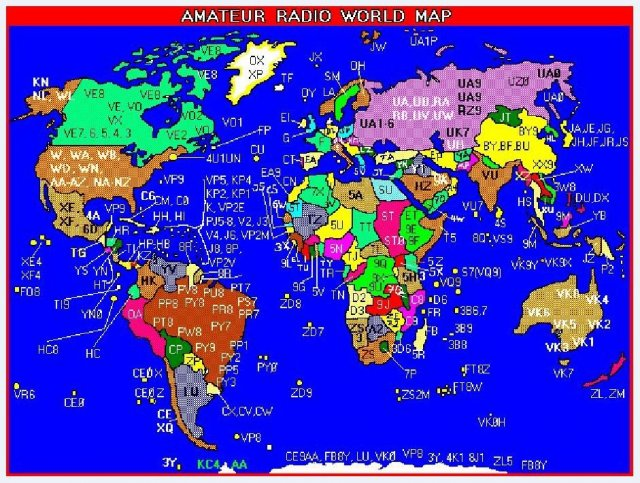 AMATEUR RADIO WORLD MAP
